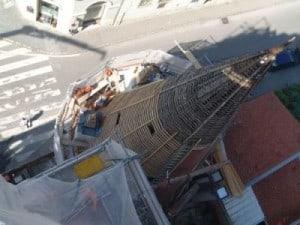 Steinertor Dachkonstruktion - Dachlatten