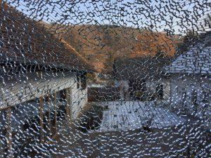 Glasscheibe - Glasbruch